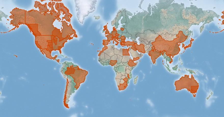 آمار شب پره ها در جهان